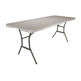 LIFETIME PRODUCTS 72-in x 30-in Rectangular Steel Folding Table