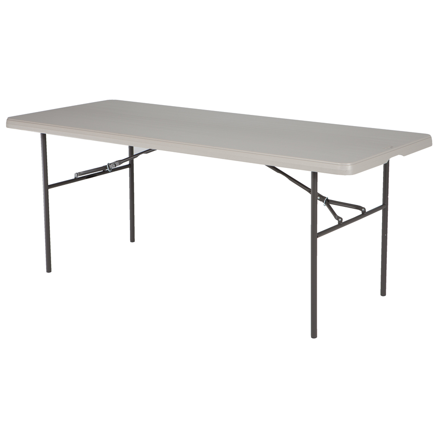 Shop style selections 6 39 rectangular folding banquet table for Table 6 feet