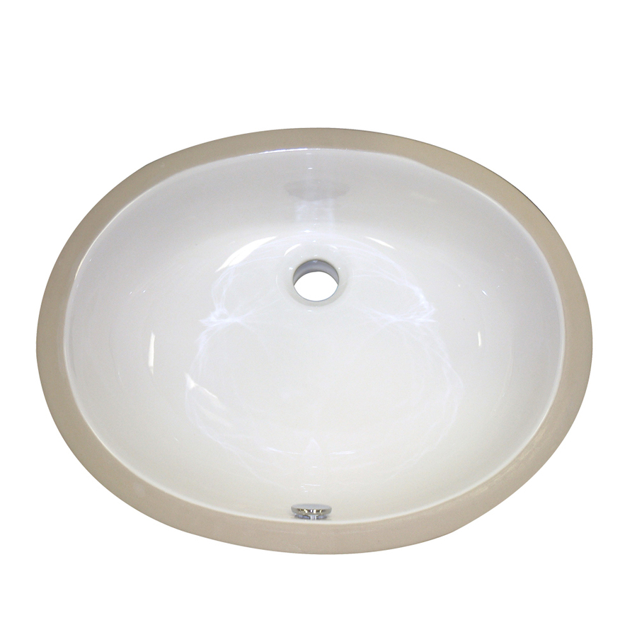 Undermount Bathroom Sink : ... Redefined Ceramic Biscuit Undermount Oval Bathroom Sink at Lowes.com