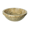 DECOLAV A Perfect Chisel Fossil Marble Vessel Round Bathroom Sink