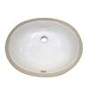 DECOLAV Classically Redefined Ceramic Undermount Oval Bathroom Sink
