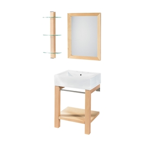 Bathroom Vanity on Maple Bath Vanity Combo With Ceramic Sink Vanities Bathroom Furniture