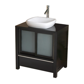 Lowes Decolav Espresso & Maple Bath Vanity Combo with Ceramic Sink