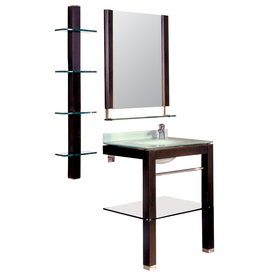DECOLAV 35-5/8-in H x 5-1/8-in W Bathroom Furniture Espresso Square Bathroom Mirror