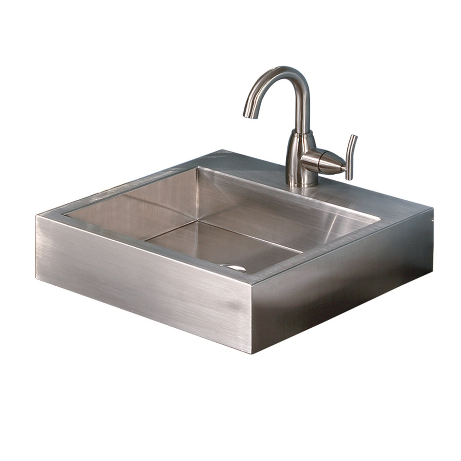 ... Stainless Brushed Stainless Steel Drop-In Square Bathroom Sink at