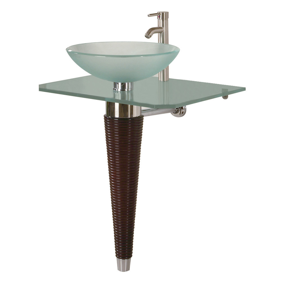 ... 28-1/4-in H Pedestals White Glass Pedestal Sink Base at Lowes.com