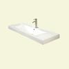 DECOLAV Cityview White Drop-In Rectangular Bathroom Sink with Overflow