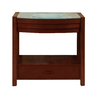 DECOLAV Sag Harbour Walnut Undermount Single Sink Bathroom Vanity with Glass Top (Common: 36-in x 22-in; Actual: 34-in x 22-in)