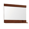 DECOLAV Sag Harbour 32.75-in W x 24.125-in H Walnut Rectangular Bathroom Mirror