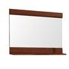 DECOLAV Sag Harbour 32.75-in W x 24.125-in H Walnut Rectangular Bathroom Mirror