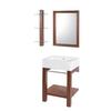 DECOLAV Bathroom Furniture 34-in H Espresso Vitreous China Pedestal Sink