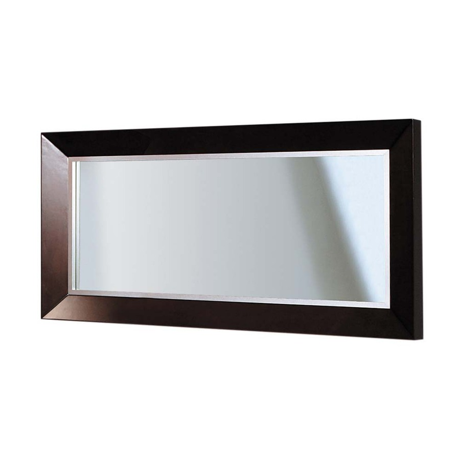 Shop decolav cityview suite 30 in h x 60 in w red mahogany for 60 inch framed mirror