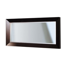 Shop decolav cityview suite 60 in w x 30 in h red mahogany for 60 inch framed mirror