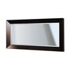 DECOLAV Cityview Suite 60-in W x 30-in H Red Mahogany Rectangular Bathroom Mirror