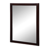 DECOLAV 32-in H x 24-in W Cameron Collection Espresso Rectangular Bathroom Mirror