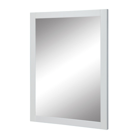 DECOLAV 32-in H x 24-in W Cameron Collection White Rectangular Bathroom Mirror