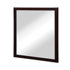 DECOLAV 32-in H x 30-in W Cameron Collection Espresso Rectangular Bathroom Mirror