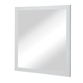 DECOLAV 32-in H x 30-in W Cameron Collection White Rectangular Bathroom Mirror