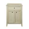 DECOLAV Jordan Modular Antique White Contemporary Bathroom Vanity (Common: 24-in x 22-in; Actual: 24.75-in x 21.88-in)