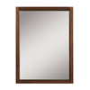 DECOLAV 32-in H x 24-in W Jordan Modular Collection Mahogany Rectangular Bathroom Mirror
