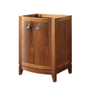 DECOLAV Gavin Medium Walnut Contemporary Bathroom Vanity (Common: 24-in x 22-in; Actual: 24-in x 21.5-in)