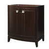 DECOLAV Gavin Espresso Contemporary Bathroom Vanity (Common: 30-in x 22-in; Actual: 30-in x 21.5-in)