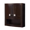 DECOLAV Gavin 23-in W x 26-in H x 9-in D Espresso Birch Bathroom Wall Cabinet