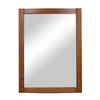 DECOLAV 32-in H x 24-in W Gavin Collection Medium Walnut Rectangular Bathroom Mirror