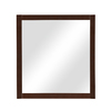 DECOLAV 32-in H x 30-in W Alexandra Collection Mahogany Rectangular Bathroom Mirror
