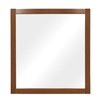 DECOLAV 32-in H x 30-in W Gavin Collection Medium Walnut Rectangular Bathroom Mirror