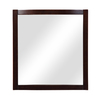 DECOLAV 32-in H x 30-in W Alexandra Collection Dark Walnut Rectangular Bathroom Mirror