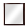 DECOLAV 32-in H x 30-in W Gavin Collection Espresso Rectangular Bathroom Mirror