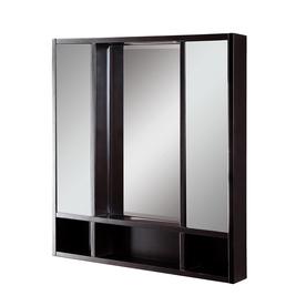 DECOLAV 30-in x 32-in Espresso Birch Surface Mount Medicine Cabinet