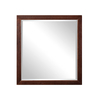 DECOLAV 31.88-in H x 30-in W Adrianna Collection Dark Walnut Rectangular Bathroom Mirror