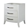 DECOLAV Lola White Contemporary Bathroom Vanity (Common: 24-in x 22-in; Actual: 25.31-in x 20.75-in)