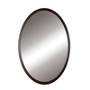 DECOLAV 32-in H x 24-in W Lola Collection Black Round Bathroom Mirror