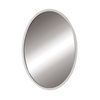 DECOLAV 32-in H x 24-in W Lola Collection White Oval Bathroom Mirror