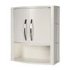 DECOLAV Lola 22-in W x 26-in H x 9-in D White Birch Bathroom Wall Cabinet