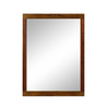DECOLAV 32-in H x 24-in W Mila Collection Black Limba and Mahogany Rectangular Bathroom Mirror