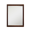 DECOLAV 32-in H x 24-in W Mila Collection Ebony Espresso Rectangular Bathroom Mirror