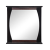 DECOLAV 32-in H x 30-in W Natasha Collection Ebony Black Gloss Rectangular Bathroom Mirror