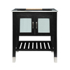 DECOLAV Briana Black Ash Contemporary Bathroom Vanity (Common: 30-in x 22-in; Actual: 30.5-in x 21.75-in)