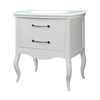 DECOLAV Gabrielle White Integral Single Sink Birch Bathroom Vanity with Glass Top (Common: 37-in x 22-in; Actual: 37-in x 23-in)