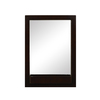 DECOLAV 31-in H x 22-in W Haddington Collection Espresso Rectangular Bathroom Mirror