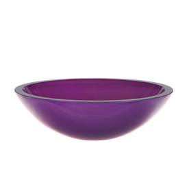 Shop decolav translucence painted purple glass vessel for Purple glass bathtub
