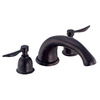 Danze River Rock Dark Bronze 2-Handle Adjustable Deck Mount Tub Faucet