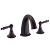 Danze Colonial Crest Oil-Rubbed Bronze 2-Handle Adjustable Deck Mount Tub Faucet