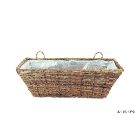 "Garden Treasures 8-1/2""H x 20""W x 7-1/2""D Wicker Window Box"