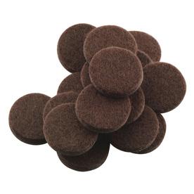 Waxman 16-Pack Brown Round Felt Pads