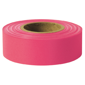Presco 1-in x 200-ft Pink Flagging Tape